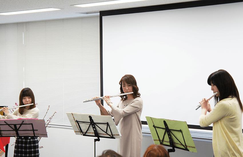 フルート三重奏の素敵な演奏